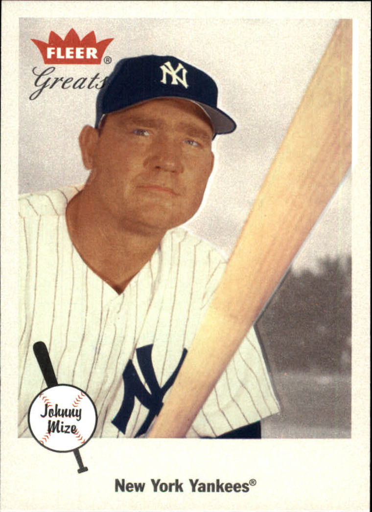 2002 Greats of the Game #12 Johnny Mize