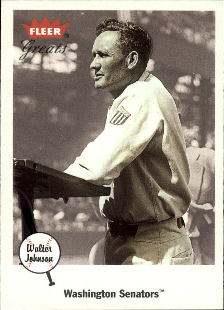 2002 Greats of the Game #13 Walter Johnson front image