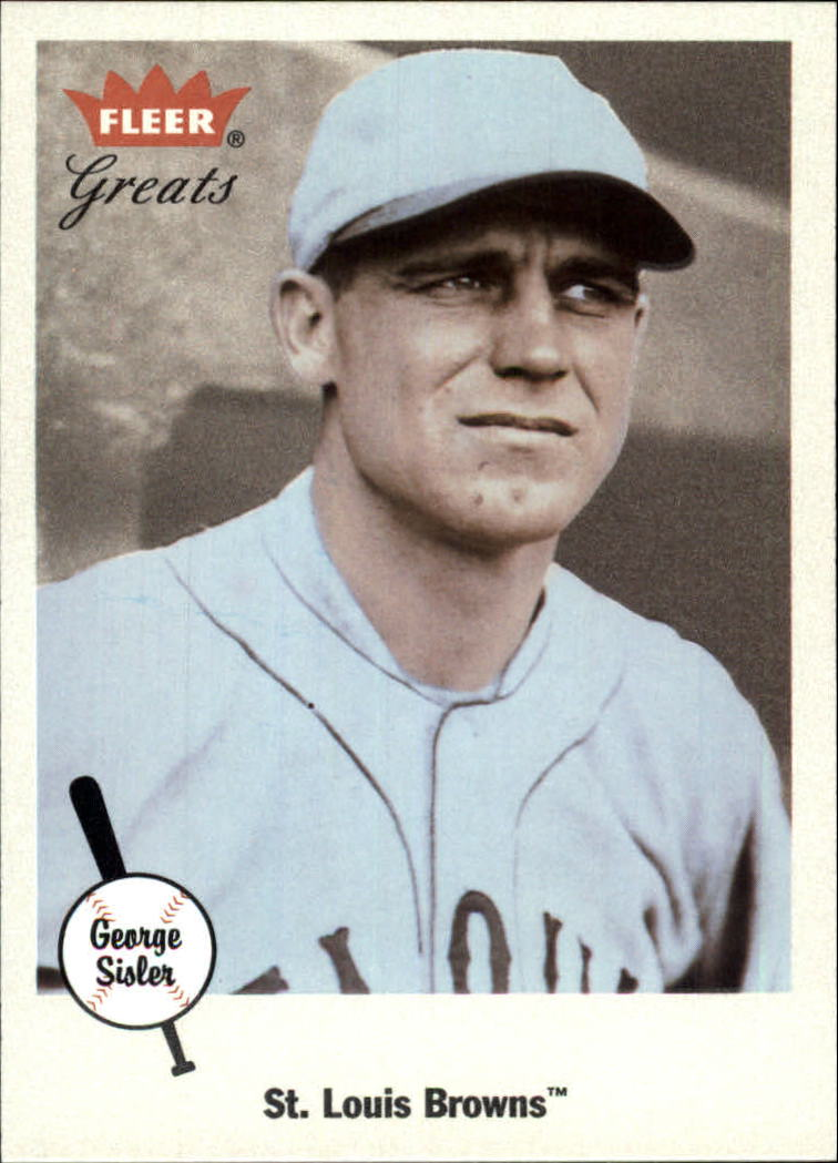 2002 Greats of the Game #15 George Sisler