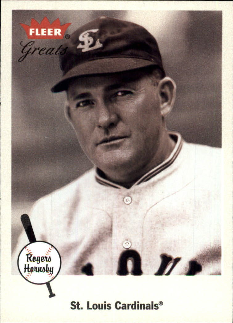 2002 Greats of the Game #23 Rogers Hornsby