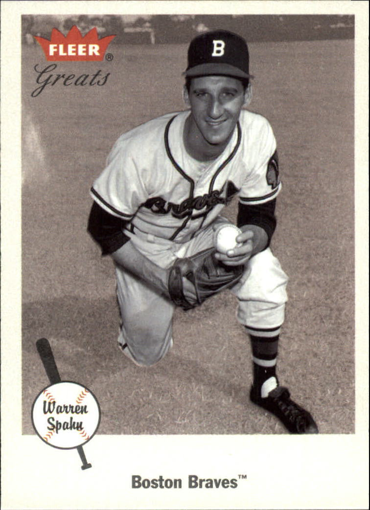 2002 Greats of the Game #52 Warren Spahn
