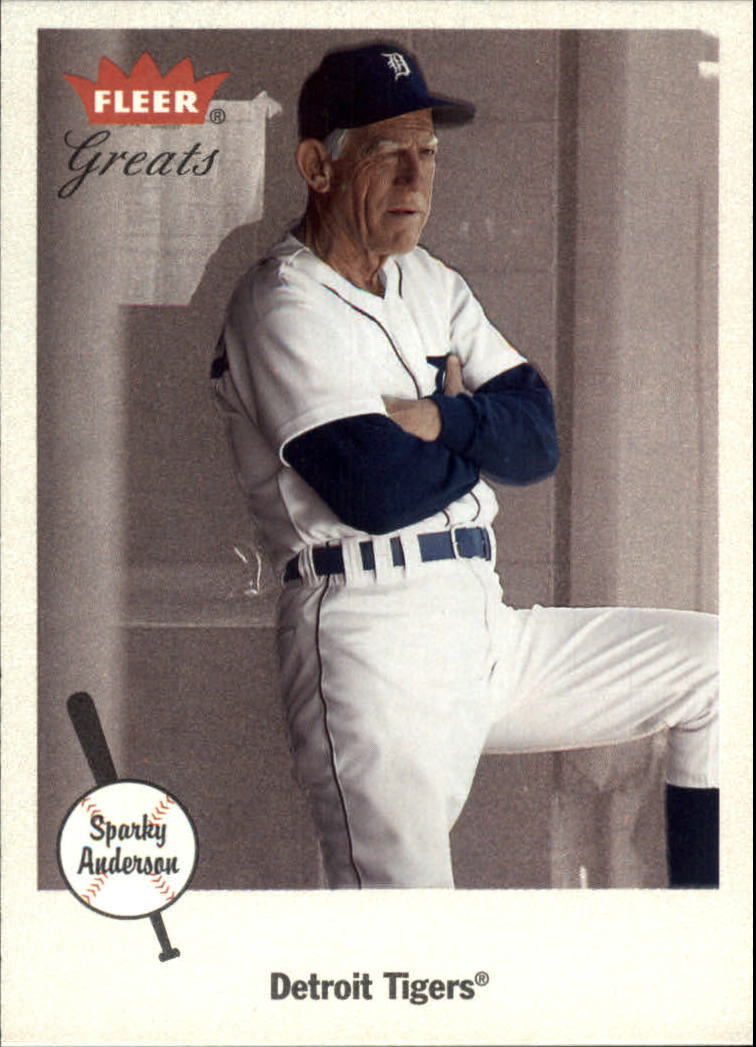 2002 Greats of the Game #71 Sparky Anderson