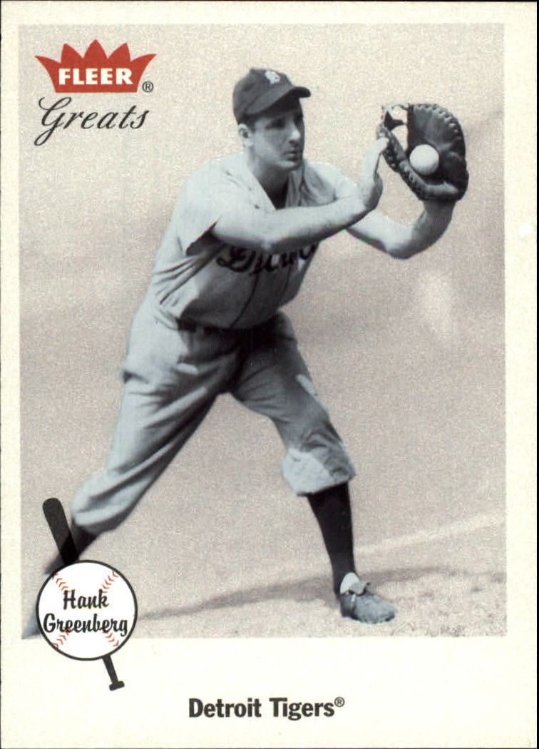 2002 Greats of the Game #100 Hank Greenberg