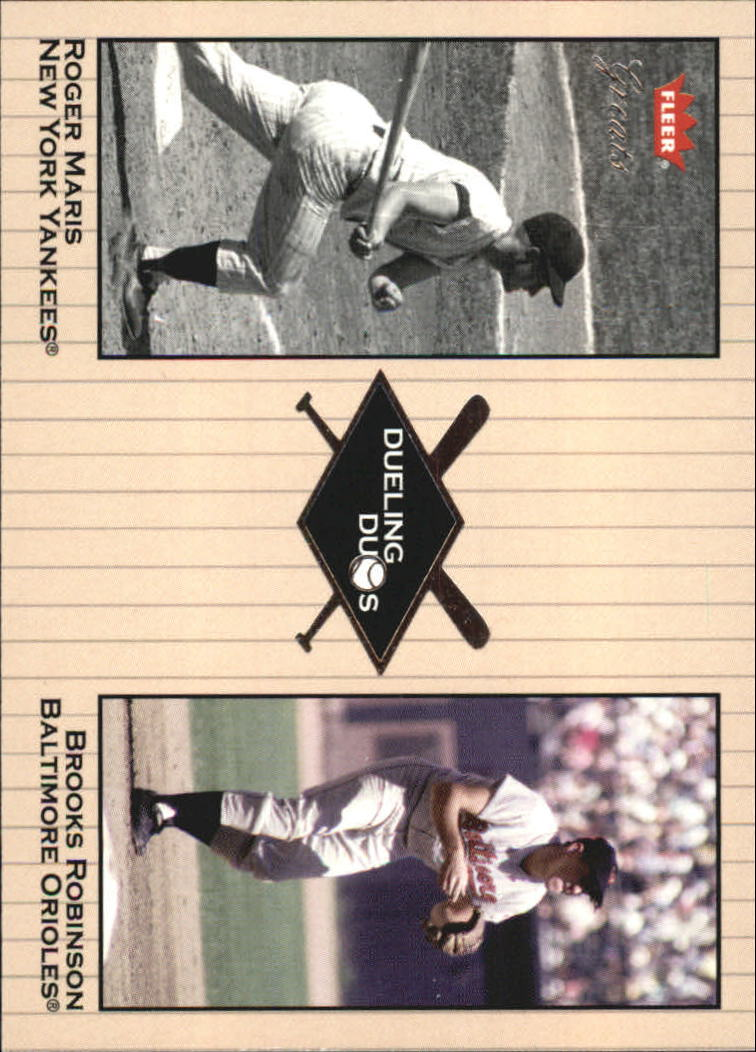 2002 Greats of the Game Dueling Duos #9 B.Robinson/R.Maris