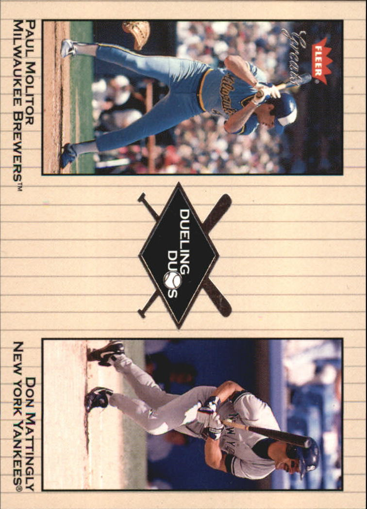 2002 Greats of the Game Dueling Duos #10 P.Molitor/D.Mattingly