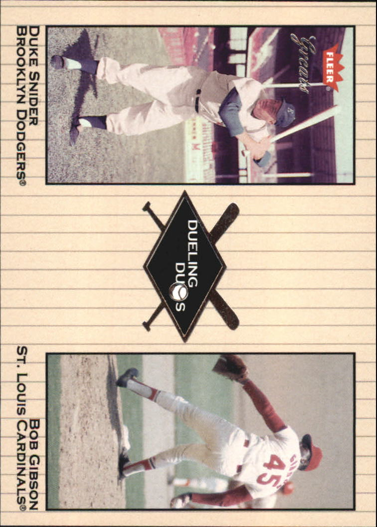 2002 Greats of the Game Dueling Duos #12 B.Gibson/D.Snider