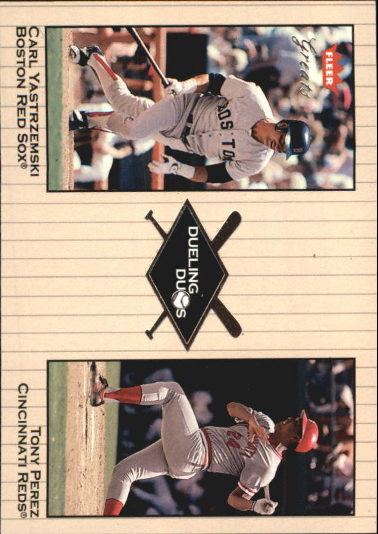 2002 Greats of the Game Dueling Duos #15 T.Perez/C.Yastrzemski