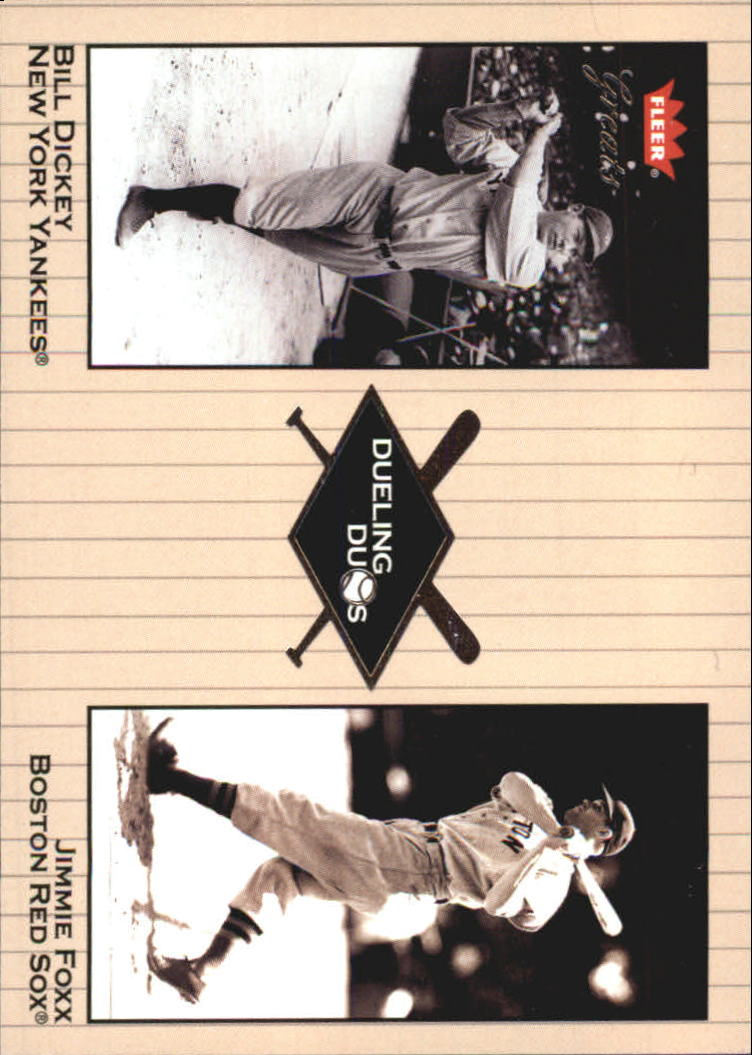 2002 Greats of the Game Dueling Duos #16 J.Foxx/B.Dickey front image
