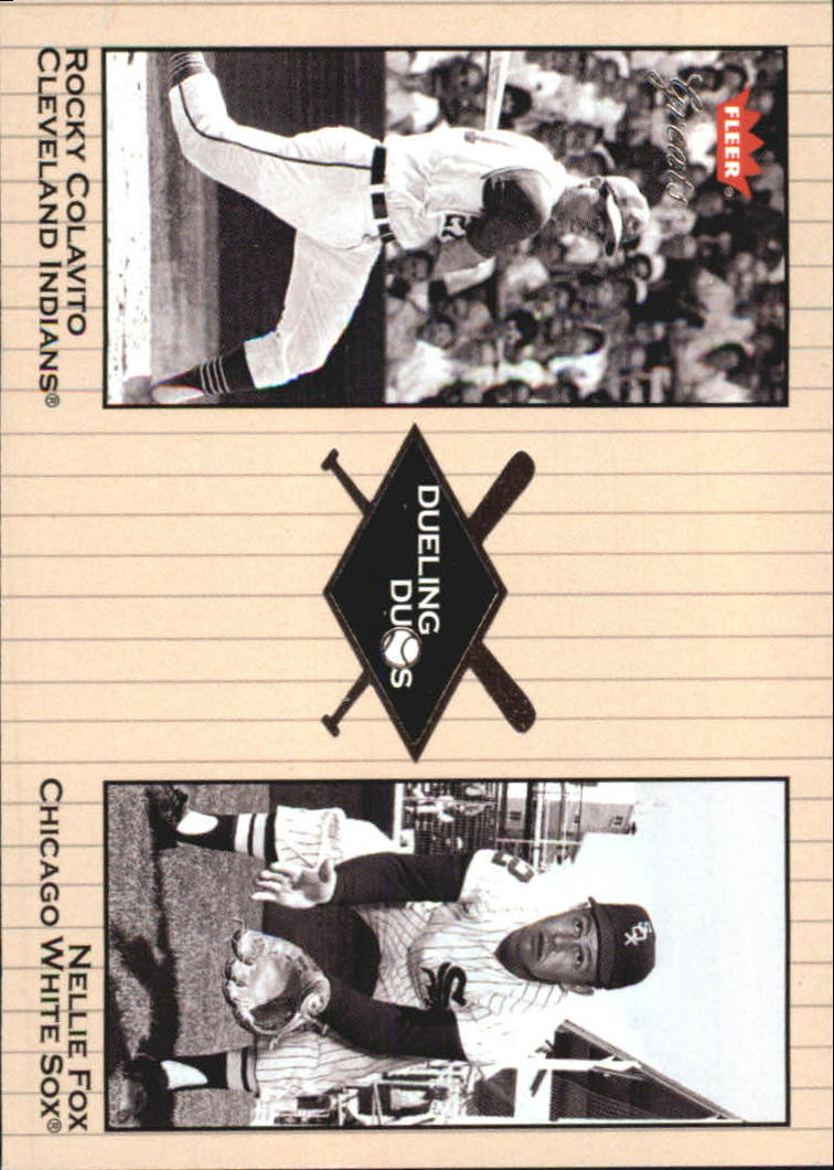2002 Greats of the Game Dueling Duos #18 N.Fox/R.Colavito