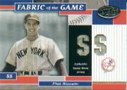 2002 Leaf Certified Fabric of the Game #27PS Phil Rizzuto/10