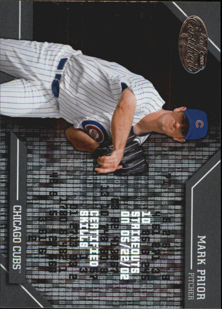 2002 Leaf Certified Skills #13 Mark Prior