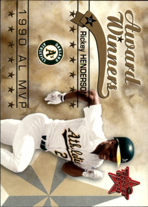 2002 Leaf Rookies and Stars #265 Rickey Henderson 90 MVP