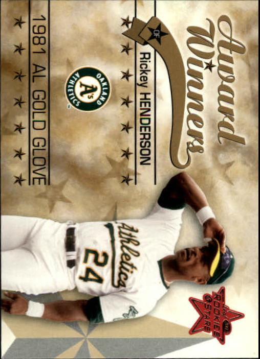 2002 Leaf Rookies and Stars #266 Rickey Henderson 81 GLV