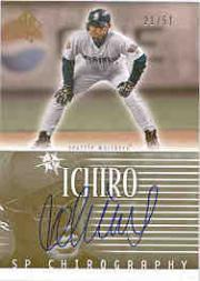 2002 SP Authentic Chirography Gold #IS Ichiro Suzuki/51