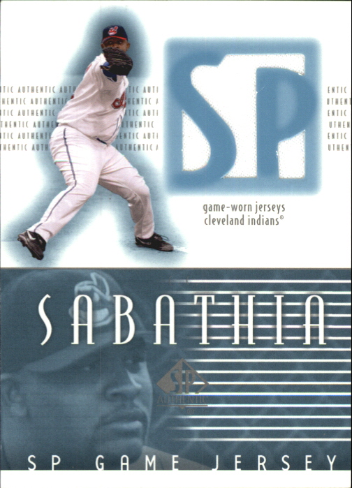 2002 SP Authentic Game Jersey #JCC C.C. Sabathia