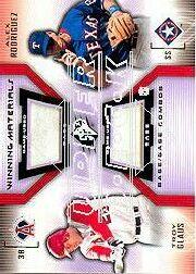 2002 SPx Winning Materials 2-Player Base Combos #BGR Troy Glaus/Alex Rodriguez