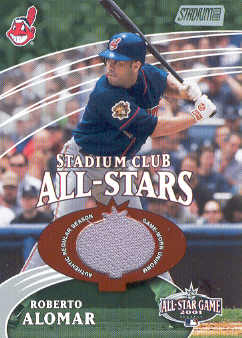 2002 Stadium Club All-Star Relics #SCASRA Roberto Alomar Uni G5