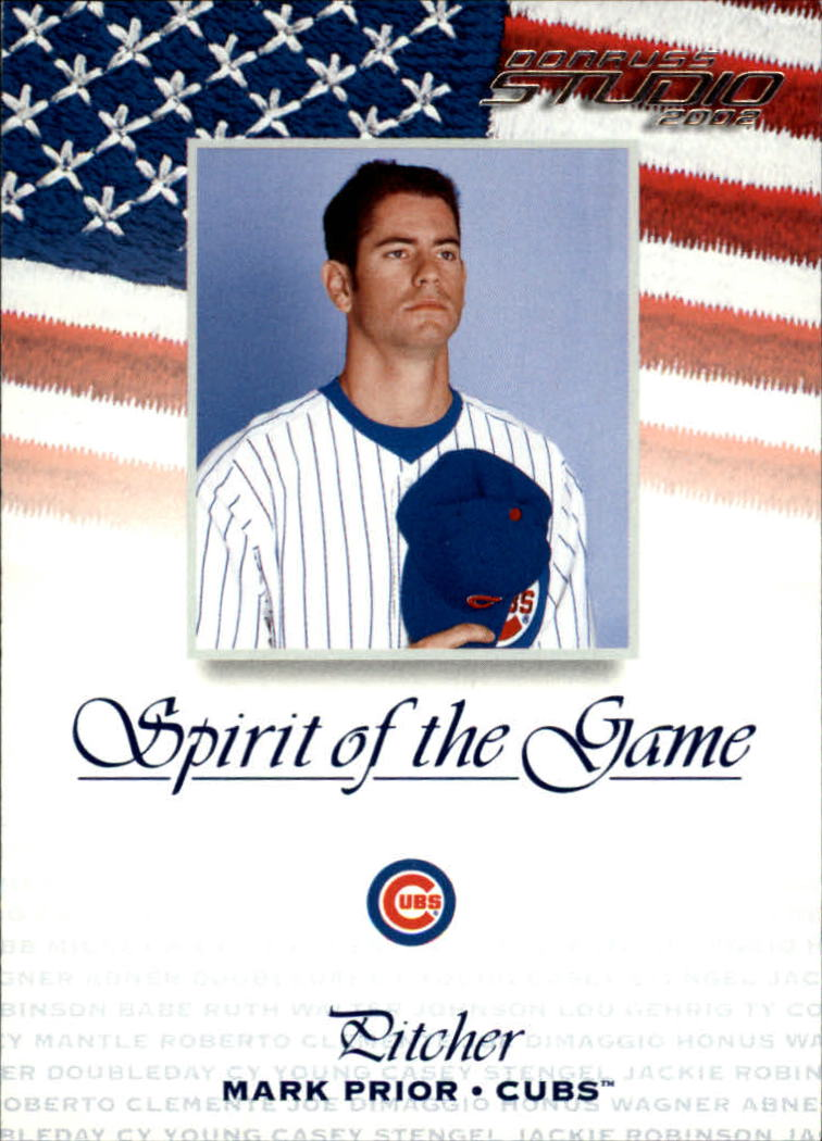 2002 Studio Spirit of the Game #13 Mark Prior