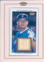 2002 Topps 206 Relics #AR3 Alex Rodriguez Bat D3