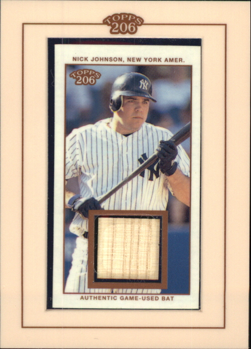 2002 Topps 206 Relics #NJ Nick Johnson Bat E3
