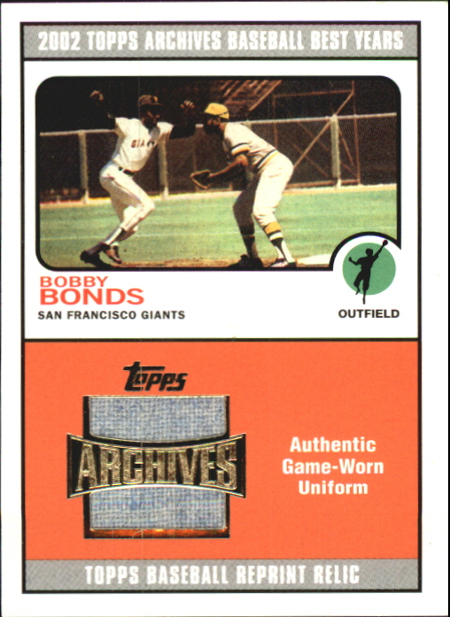 2002 Topps Archives Uniform Relics #TURBB Bobby Bonds 73