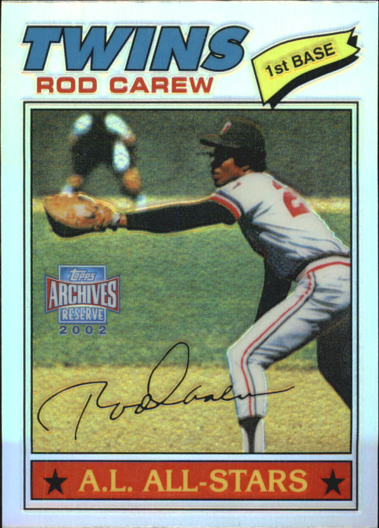2002 Topps Archives Reserve #6 Rod Carew 77