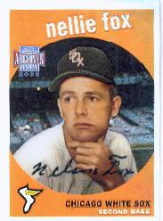 2002 Topps Archives Reserve #12 Nellie Fox 59 front image