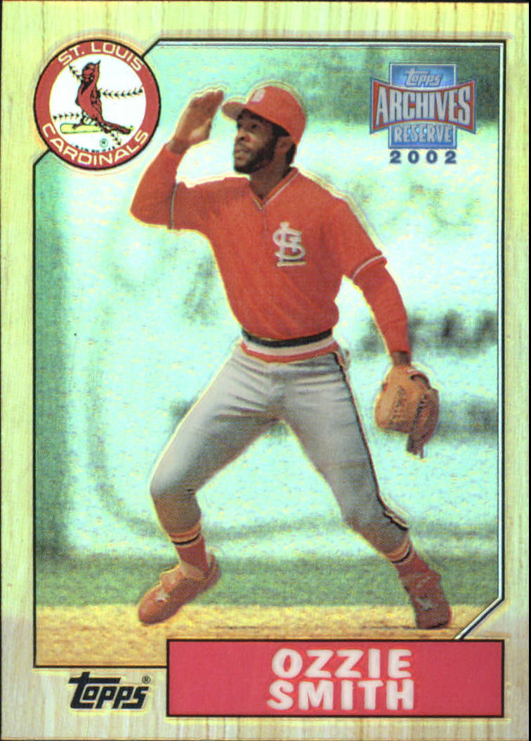 2002 Topps Archives Reserve #19 Ozzie Smith 87