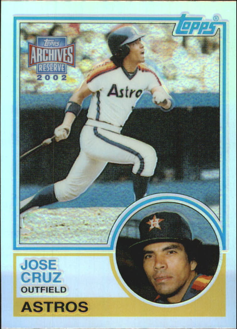 2002 Topps Archives Reserve #37 Jose Cruz 83