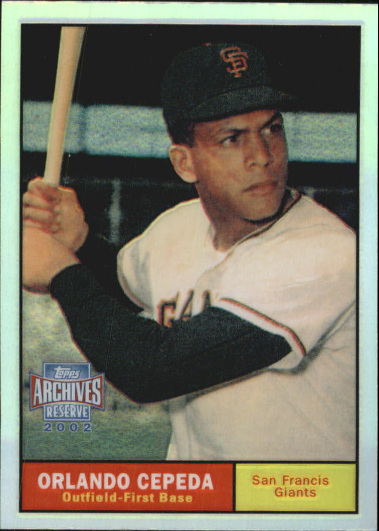 2002 Topps Archives Reserve #50 Orlando Cepeda 61