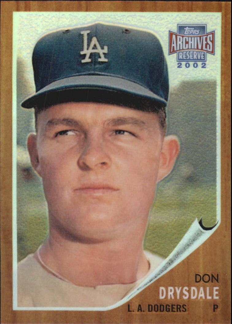 2002 Topps Archives Reserve #68 Don Drysdale 62