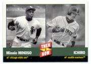 2002 Topps Heritage Then and Now #TN4 M.Minoso/I.Suzuki front image