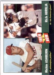 2002 Topps Heritage Then and Now #TN5 R.Ashburn/R.Aurilia front image