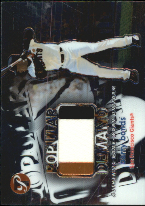 2002 Topps Pristine Popular Demand #BBO Barry Bonds Uni