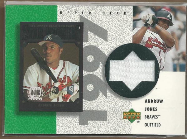 2002 UD Authentics Reverse Negative Jerseys #RAJ Andruw Jones