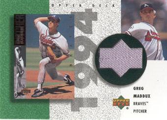 2002 UD Authentics Reverse Negative Jerseys #RGM Greg Maddux