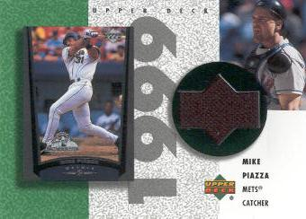 2002 UD Authentics Reverse Negative Jerseys #RMP Mike Piazza
