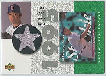 2002 UD Authentics Retro Star Rookie Jerseys #SRHN Hideo Nomo