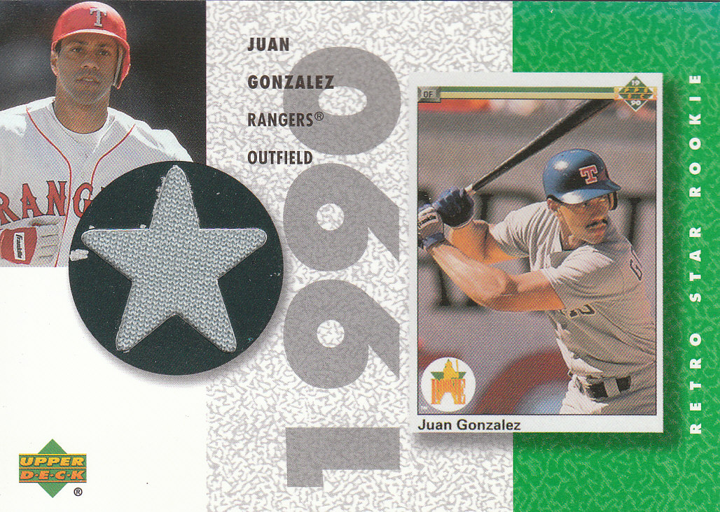2002 UD Authentics Retro Star Rookie Jerseys #SRJG Juan Gonzalez