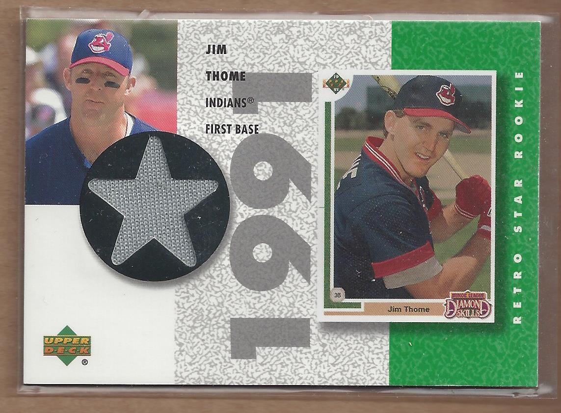 2002 UD Authentics Retro Star Rookie Jerseys #SRJT Jim Thome