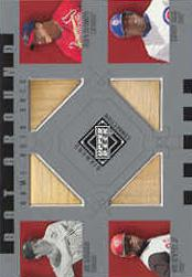 2002 Upper Deck Diamond Connection Bat Around Quads #DMGS DiMag/Mac/Grif/Sosa