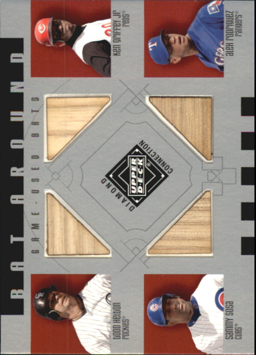 2002 Upper Deck Diamond Connection Bat Around Quads #HGSR Helton/Grif/Sosa/A-Rod