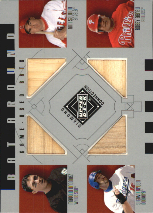 2002 Upper Deck Diamond Connection Bat Around Quads #OSGA Magg/Salm/Green/Abreu