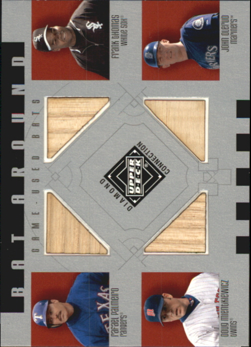 2002 Upper Deck Diamond Connection Bat Around Quads #PTMO Palm/Thomas/Mient/Oler