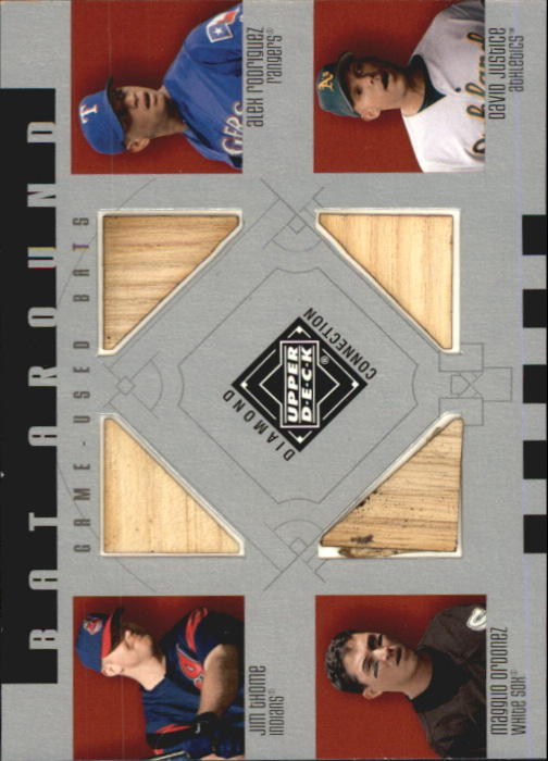 2002 Upper Deck Diamond Connection Bat Around Quads #TROJ Thome/A-Rod/Magg/Just