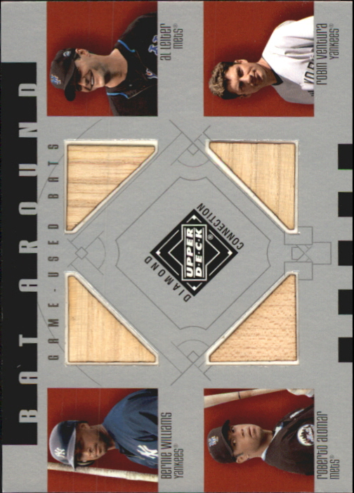 2002 Upper Deck Diamond Connection Bat Around Quads #WLAV Bernie/Leiter/Alom/Vent