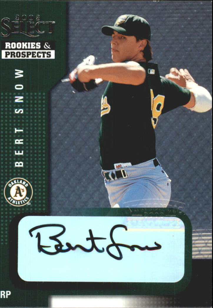 2002 Select Rookies and Prospects #8 Bert Snow/Black Autograph