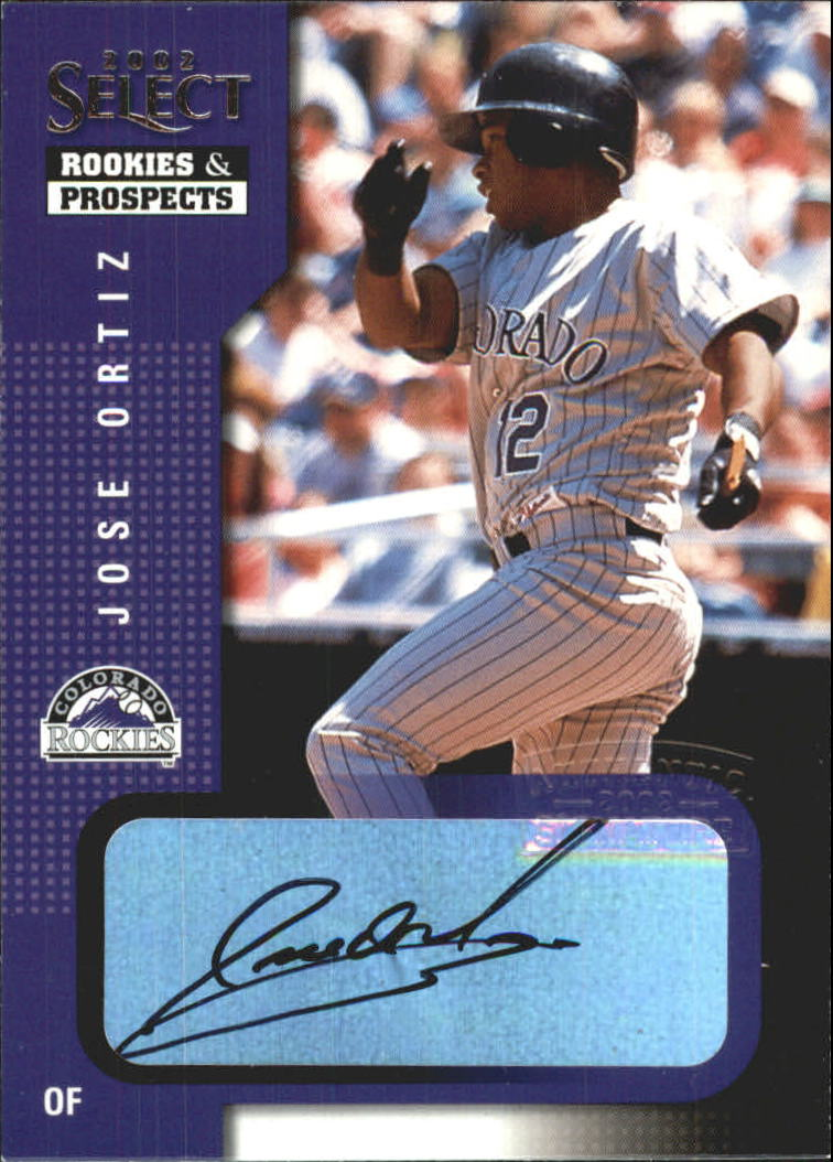 2002 Select Rookies and Prospects #50 Jose Ortiz