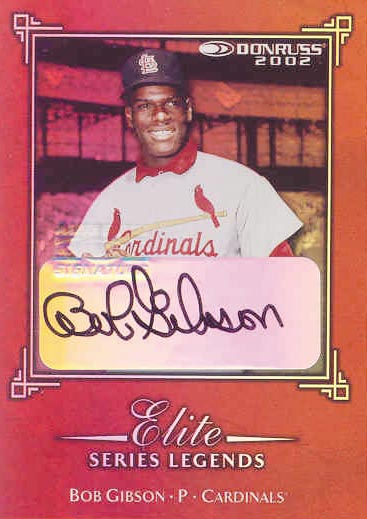 2002 Donruss Elite Series Signatures #18 Bob Gibson LGD/250