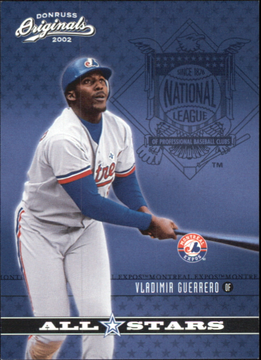 2002 Donruss Originals All-Stars #4 Vladimir Guerrero